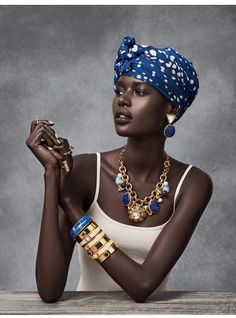 Ajak Deng - a study in lapis