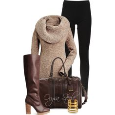 Leggings and Boots, created by orysa on Polyvore