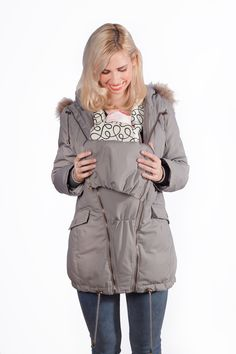 Down filled winter maternity parka coat to keep you and baby warm this winter. Maternity Coats, Maternity Winter Coat, Maternity Jacket, Baby Warmer, Parka Coat, Fur Trim, Best Sellers, Raincoat, Stylish