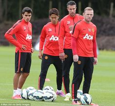 Redemption: Manchester United will look to redeem themselves after losing 2-1 to Swansea l...