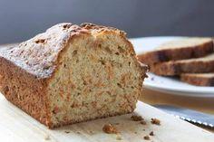 Receta de pan de zanahoria, coco y jengibre para desayunar