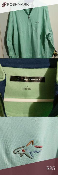 Men's Greg Norman quarter zip Mint or sea foam green Greg Norman Sweaters Zip Up