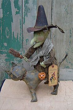 The Country Cupboard Primitive Witch Doll by CountryCupboardPrims, $7.00