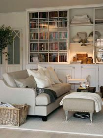 comfy, neutral, and cozy... fabulous built-ins