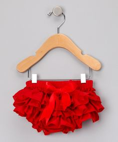 Red Ruffle Diaper Cover