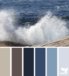 Color inspiration for the Schroeder family bathroom remodel, blending shades of blue with rich brown and taupe.