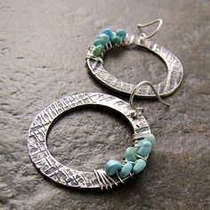 "Love the texture on these ""washer"" earrings"