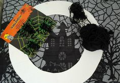 This Halloween I decided to go with a spider theme, not sure why, since I don't like spiders. with spiders, there are usually webs. I made a web wreath Halloween Costumes, Wreaths, Spiders, Decor, Decoration, Door Wreaths, Halloween Costumes Uk, Spider, Deco Mesh Wreaths