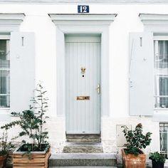 Klick, Fassaden, Zuhause, Wohnen, Lackierte Türen, Helle Haustüren,  Ferienhaus Haustüren, Mein Traumhaus, The Doors