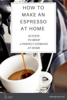 How to make an Espresso. 10 Easy to Action Steps, Q&A and Troubleshooting Tips to make a perfect espresso at home. Espresso At Home, Espresso Shot, Espresso Coffee, Iced Coffee, Easy Coffee, Italian Espresso, Starbucks Coffee, Coffee Type, Coffee Pods