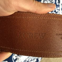 J crew leather belt Genuine Italian leather!! J. Crew Accessories Belts