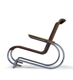 Erich Dieckmann; #8121 Lounge Chair, 1931. Art Deco Furniture, Vintage Furniture, Cool Furniture, Modern Furniture, Furniture Design, Modern Crafts, Bauhaus Design, Take A Seat, Metal Chairs