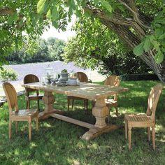 Recycled teak garden table W 240cm