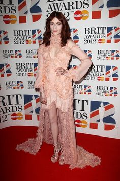 Florence Welch in Alexander McQueen at the Brit Awards 2012