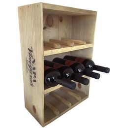 Vintage Wine Crate 12-Bottle Wine Rack -- Vintage Pine Wine Crate will show off 12 of your favorite bottles in stylish elegance. Shelf provides ample space for your corkscrew or other wine inspired accessories. Solid wood pine crate has the authentic vineyard stamp on the top and on both sides. Vineyard stamps will vary depending on where the crate is found.