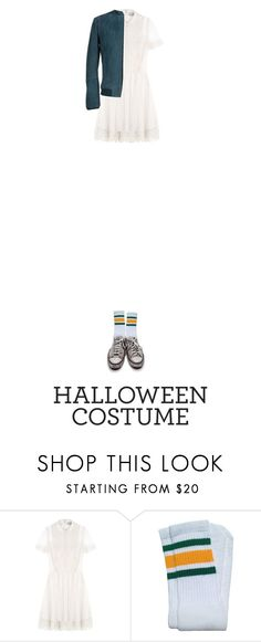 """""""Untitled #528"""" by adaylateabuckshort ❤ liked on Polyvore featuring RED Valentino, Converse, Mauro Grifoni, halloweencostume and DIYHalloween"""