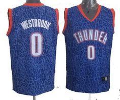 2014 Oklahoma City Thunder 0# Russell Westbrook Crazy Light Swingman Blue Jersey 24.0$
