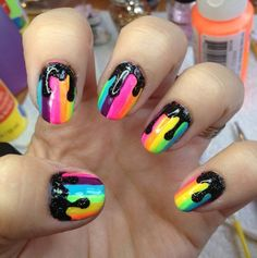 17 Best images about Dripping Paint Nail Art on Pinterest | Nail ...