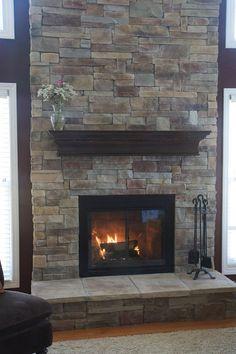 stone backsplash around fireplace - need something to replace the ...