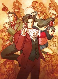 Ace Attorney Investigations: Miles Edgeworth =D # Gumshoe # Kay Faraday