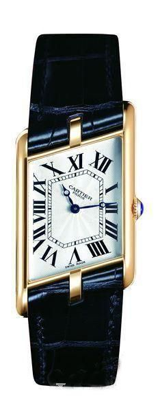 Cartier watch. This one is beautiful but I wouldn't mind a Tank watch with a brown leather strap.