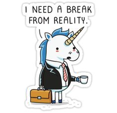 """Need a break"" Stickers by Andres Colmenares 