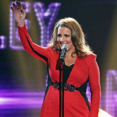 Sam Bailey with an emotional performance of 'Bleeding Love' Sam Bailey, Red Leather, Leather Jacket, Board, Jackets, Fashion, Studded Leather Jacket, Down Jackets, Moda