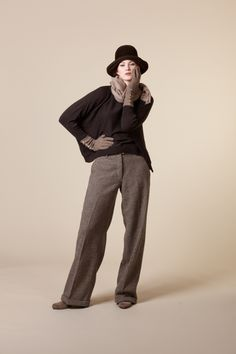 Ailsa tweed trousers by The Rose Online