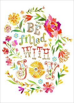 Be Filled with Joy Canvas Art