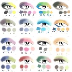 Eyeshadow Color Combos...If you are a make-up lover like us and sometimes you just don't know how…