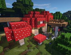 🇫🇷medial resource pack on Instagram: a mushroom house #minecraft #medialpack #minecraftb in 2020 Minecraft house designs Minecraft decorations Cool minecraft houses
