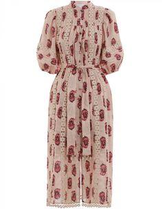 Zimmermann Jaya Flower Cutout Long Dress. Product Image.