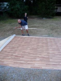 Hey lets make a dance floor only 24 plus cost of paint for this backyard wedding dance floor diy solutioingenieria Choice Image