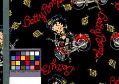 Betty Boop Fabric by the Yard Harley Davidson Motorcycle Leathers Fishnet Stockings Hawg Red Harley Leopard Bra Night on the Town Harley Davidson Fabric, The Last Picture Show, Motorcycle Leather, Fishnet Stockings, Harley Davidson Motorcycles, Betty Boop, Printable Art, Cotton Fabric, Etsy Seller