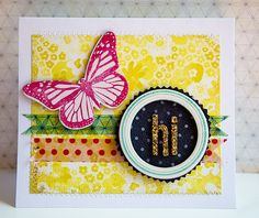 Hi Card by Katie Ehmann for Crate Paper