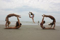 Gymnastics on the beach....nek minute, sore the next day, didn't stretch because they were to busy showing off lol