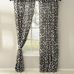 Black Darby Curtain Panel Set, 96 in. | Kirklands Would be great for Master bedroom.