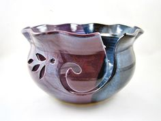 Pottery Yarn Bowl, knitting bowl - Made to order