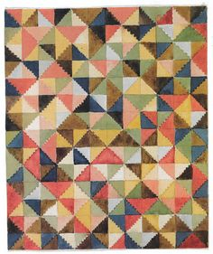 Gunta Stölzl (1897 - 1983)  Design for a carpet (ca.1923, 21x18 cm)  A Bauhaus student and teacher in the fabric/textiles workshop. You can see her interest in color and color studies in this piece.