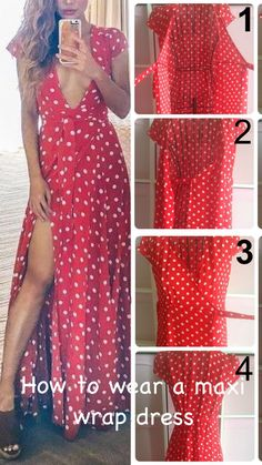 Simple guide on how to wear a maxi wrap dress