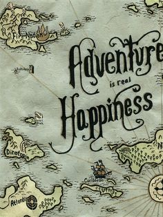 Adventure Map by Alex Vitti, via Behance