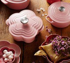 Promotions   Chifoon Pink Flower Casserole   Le Creuset Singapore