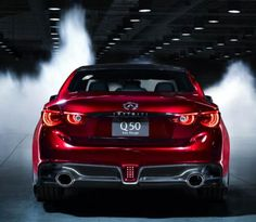 The 2014 Infiniti Eau Rouge concept is a modern sports car that might actually enter the production and go on sale as a model year sedan. Infiniti Sedan, Infiniti Q50 Red Sport, 2016 Infiniti Q50, Nissan Gt R, American Graffiti, Audi Rs6, Harrison Ford, Auto Motor Sport, Sport Cars
