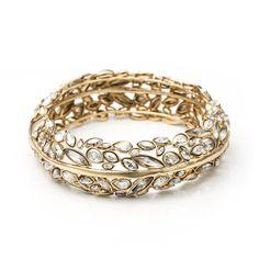 Gold Liquid Crystal Hinge Bracelet | Alexis Bittar