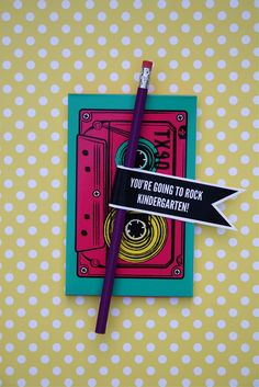 Fun Favor idea - it is what it is: you're going to rock (back to school)