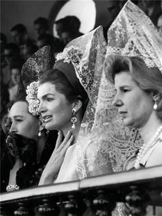 Jackie Kennedy and Cayetana Duchess of Alba in Sevilla 1966