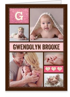 Welcomed Wonder Girl 3x5 Folded Card | Thank You Cards