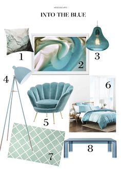 Monday Moodboard: Into the blue