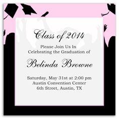 Floral Flower Background Printable Graduation Announcement