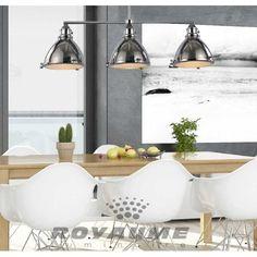 Luminaire suspendu rectangle en m tal bronze anthracite for Plafonnier pour salle a manger